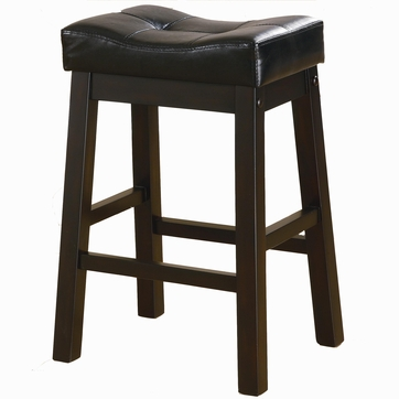 2 Brown Cherry Backless Counter Height Stools by Coaster - 120519