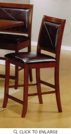 24 Inch Walnut Finish Counter Bar Stool (Set of 2) by Coaster - 101792