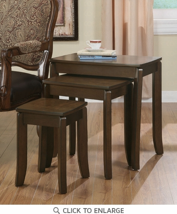 3 Piece Nesting Tables in a Walnut Finish by Coaster - 901071