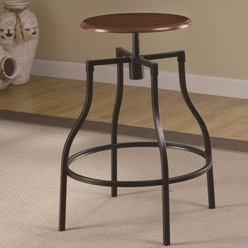 Adjustable Bar Stool with Durable Black Metal Frame and Legs by Coaster 100199