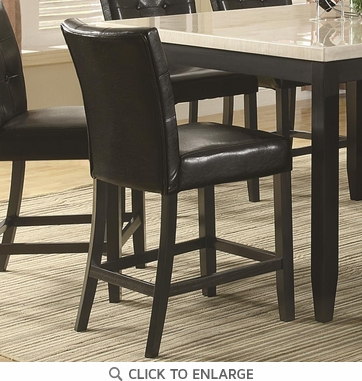 Anisa Black Button Tuft Counter Height Dining Chairs 102779 - Set of 2