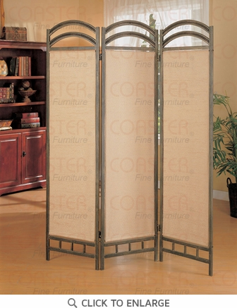 Antique Gold Metal Room Divider Screen by Coaster - 900106