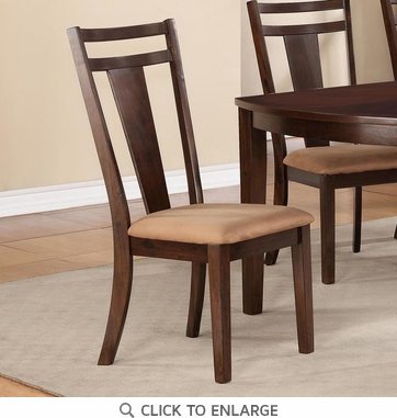 Antonia Brown Dining Chairs with Upholstered Seat by Coaster 104592 - Set of 2