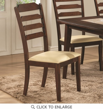Baker Walnut Finish Ladder Back Dining Chairs 102842 - Set of 2