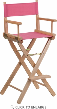 Bar Height Directors Chair in Pink [TYD01-PK-GG]