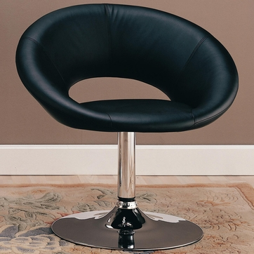 Black Chrome Accent Leisure Chair by Coaster 120349