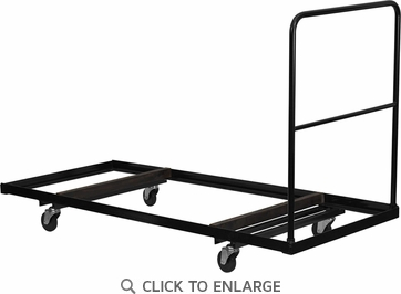 Black Folding Table Dolly for 30''W x 72''D Rectangular Folding Tables [NG-DY3072-GG]