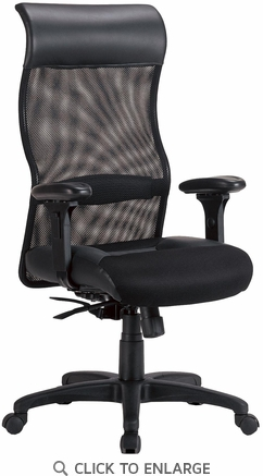 Black Leather and Mesh Executive Office Chair by Coaster - 800052