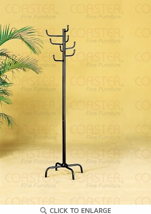 Black Metal Coat Rack Hall Tree by Coaster - 2711
