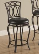 Black Metal Swivel 24 Inch Seat Counter Stool Chair by Coaster 122059