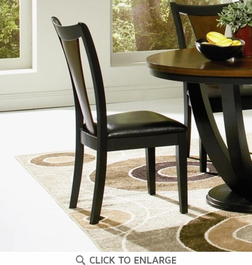 Boyer Black & Cherry Dining Chairs by Coaster 102092 - Set of 2