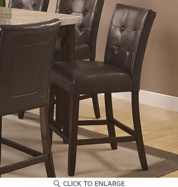 Brown Button Tuft Counter Height Dining Chairs 103779 - Set of 2