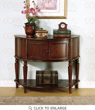 Brown Finish Console Accent Hall Table by Coaster 950059