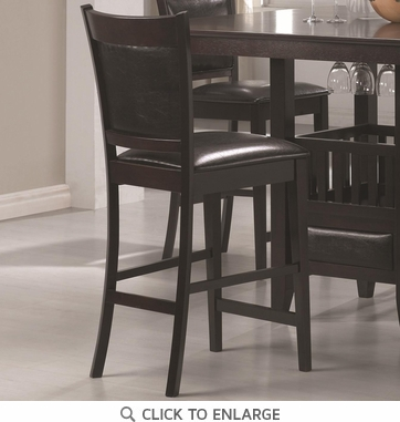 Cappuccino Counter Height Stool with Vinyl Seat by Coaster 100959  - Set of 2