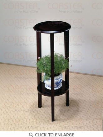 Cappuccino FInish Plant Stand Accent Table by Coaster - 900936