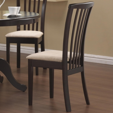 Cappuccino Slat Back Dining Chairs by Coaster 101082 - Set of 2