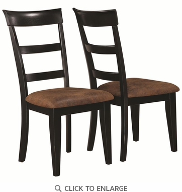 Charlotte Black Ladder Back Dining Chairs by Coaster 104612 - Set of 2