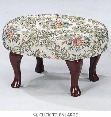 Cherry Finish Upholstered Foot Stool by Coaster 3422