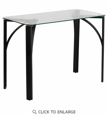 Contemporary Desk with Clear Tempered Glass Top [NAN-YLCD1214-GG]