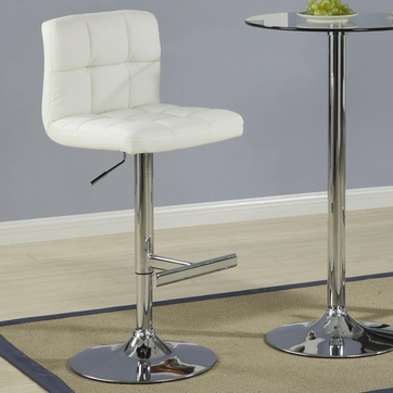 Cream Leather Like Vinyl Adjustable Bar Stool Chair by Coaster 120356 - Set of 2