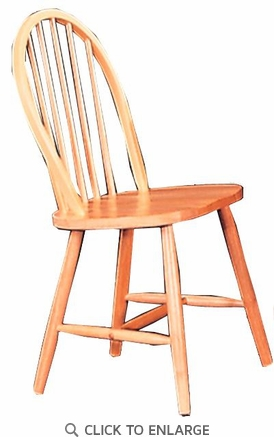 Damen Windsor Dining Chair in a Natural Finish by Coaster 4127 - Set of 4