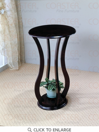 Dark Cherry FInish Plant Stand Accent Table by Coaster - 900934