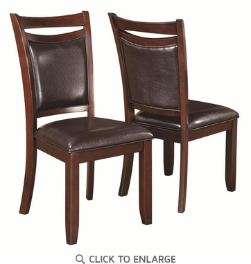 Dupree Brown Upholstered Dining Chairs by Coaster  105472 - Set of 2
