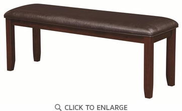 Dupree Casual Upholstered Dining Bench in Dark Brown by Coaster 105473