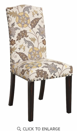 Floral Pattern Parson Dining Chair by Coaster 100562 - Set of 2
