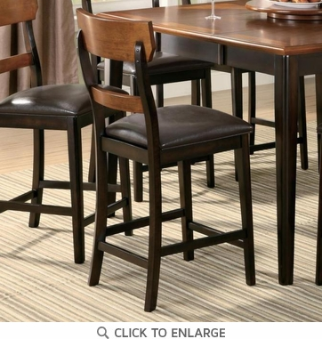 Franklin Oak and Brown Counter Height Stool Chair by Coaster 102199 - Set of 2