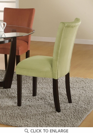 Green Microfiber Parson Dining Chairs by Coaster 101495 - Set of 2