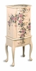 Hand Painted Floral Jewelry Armoire Lingerie Chest by Coaster