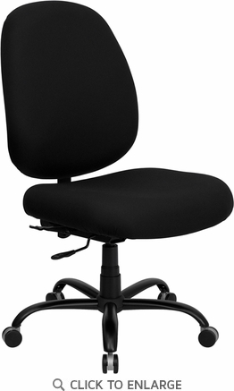 HERCULES 400 lb. Capacity Big and Tall Black Fabric Office Chair with Extra WIDE Seat [WL-715MG-BK-GG]