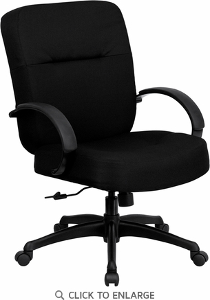 HERCULES 400 lb. Capacity Big & Tall Black Fabric Office Chair with Arms and Extra WIDE Seat [WL-723ATG-BK-GG]
