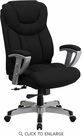 HERCULES 400 lb. Capacity Big & Tall Black Fabric Office Chair with Arms [GO-1534-BK-FAB-GG]