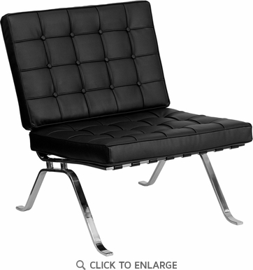 HERCULES Black Leather Lounge Chair with Curved Legs [ZB-FLASH-801-CHAIR-BK-GG]
