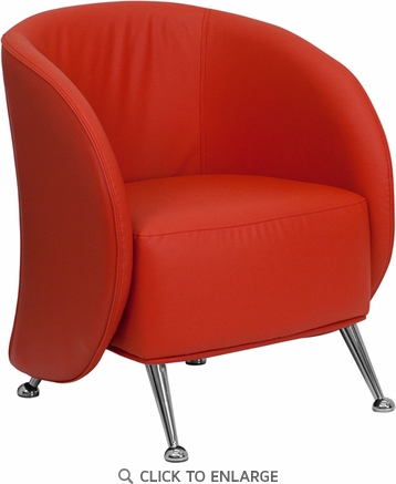 HERCULES Jet Red Leather Reception Chair [ZB-JET-855-RED-GG]