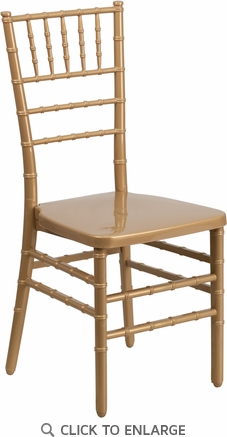 HERCULES PREMIUM Series Gold Resin Stacking Chiavari Chair [BH-GOLD-GG]