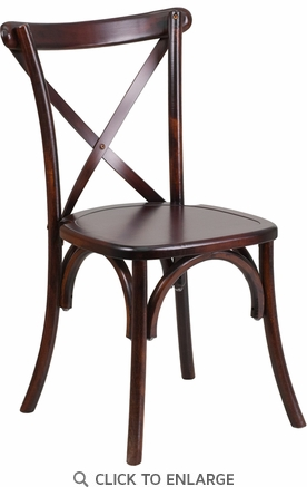 HERCULES Series Fruitwood Cross Back Chair [XS-1-F-GG]