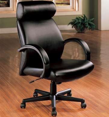 High Back Black Faux Leather Executive Office Chair by Coaster - 800082
