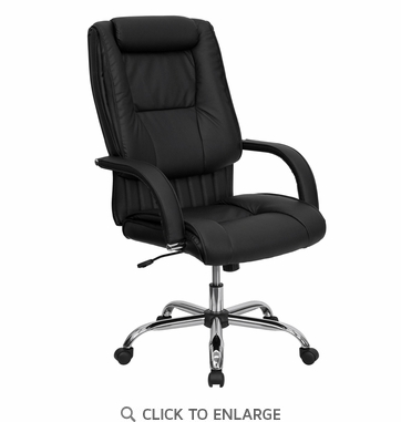 High Back Black Leather Executive Office Chair [BT-9130-BK-GG]