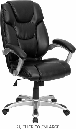 High Back Black Leather Executive Office Chair [GO-931H-BK-GG]