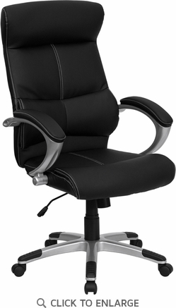 High Back Black Leather Executive Office Chair [H-9637L-1C-HIGH-GG]