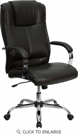 High Back Brown Leather Executive Office Chair [BT-9080-BRN-GG]