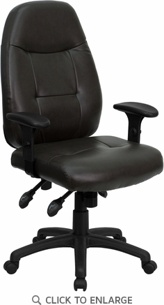 High Back Espresso Brown Leather Executive Office Chair [BT-2350-BRN-GG]