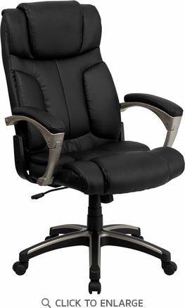 High Back Folding Black Leather Executive Office Chair [BT-9875H-GG]