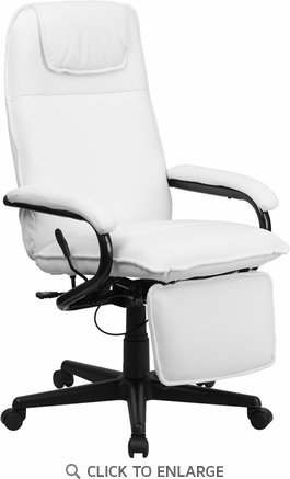 High Back White Leather Executive Reclining Office Chair [BT-70172-WH-GG]