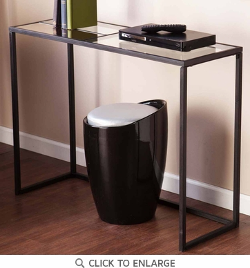 Holly & Martin Eamce Black Metal Console Table