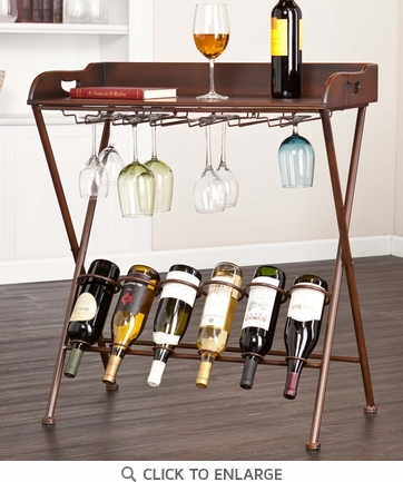 Holly & Martin Encinitas Espresso Wine Storage Table