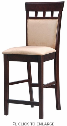 Hyde 24 Inch UPL Back Cappuccino Bar Stool (Set of 2) by Coaster - 100219